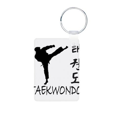 Taekwondo Aluminum Photo Keychain
