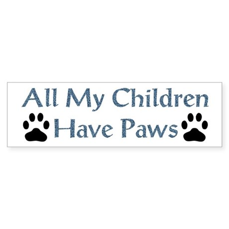 pawkids3 Bumper Sticker