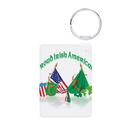 Irish American Aluminum Photo Keychain