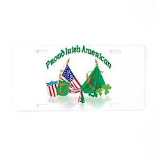 Irish American Aluminum License Plate