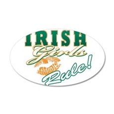 Irish Girls Rule 22x14 Oval Wall Peel
