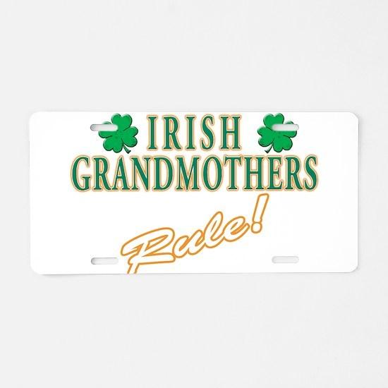 Irish Grandmothers rule Aluminum License Plate