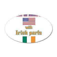 Made in American with Irish p 22x14 Oval Wall Peel