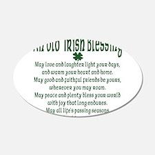 Old irish Blessing 22x14 Oval Wall Peel