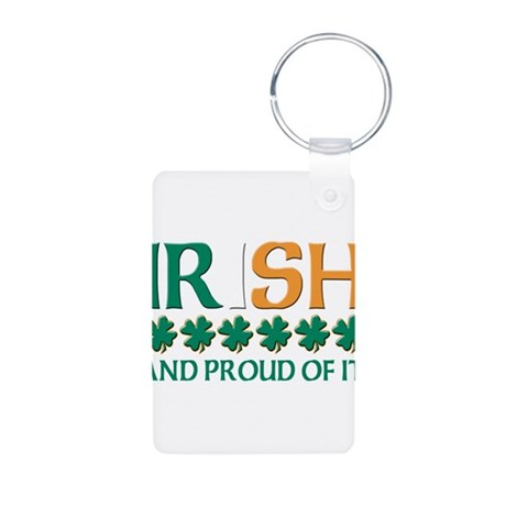 Proud irish Aluminum Photo Keychain