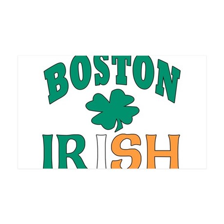 Boston irish 38.5 x 24.5 Wall Peel