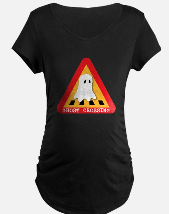 Cute Ghost Crossing Sign T-Shirt