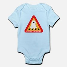 Cute Ghost Crossing Sign Infant Bodysuit