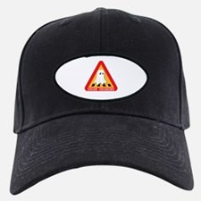 Cute Ghost Crossing Sign Baseball Hat