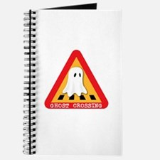 Cute Ghost Crossing Sign Journal