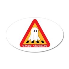 Cute Ghost Crossing Sign Wall Decal
