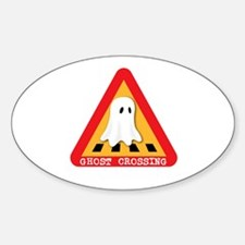 Cute Ghost Crossing Sign Decal