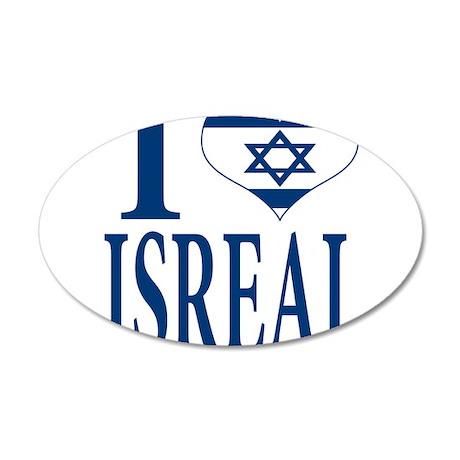I love Isreal 38.5 x 24.5 Oval Wall Peel