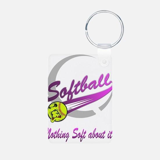 Girls Softball Aluminum Photo Keychain