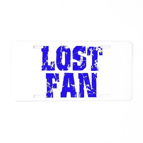 Lost Fan Aluminum License Plate