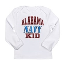 Alabama Navy Long Sleeve Infant T-Shirt