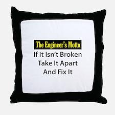 Engineer's Motto Throw Pillow