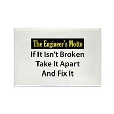Engineer's Motto Rectangle Magnet