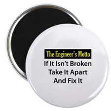 Engineer's Motto Magnet