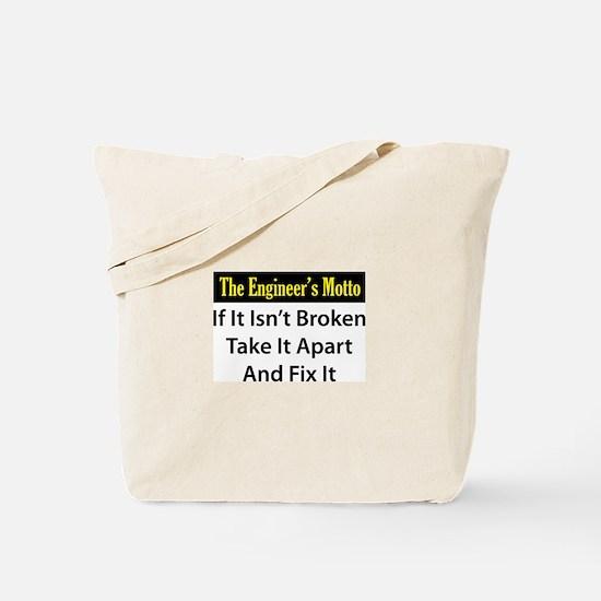 Engineer's Motto Tote Bag