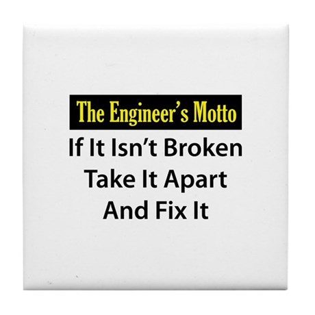 Engineer's Motto Tile Coaster