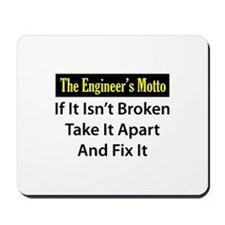 Engineer's Motto Mousepad