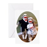 Sock Monkey Wedding Greeting Cards (Pk of 10)