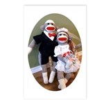 Sock Monkey Wedding Postcards (Package of 8)