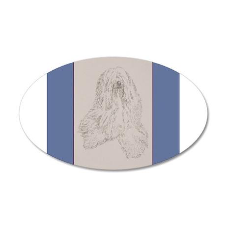 Tibetan Terrier 22x14 Oval Wall Peel