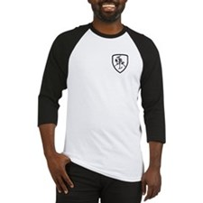 Black and White Vytis Baseball Jersey