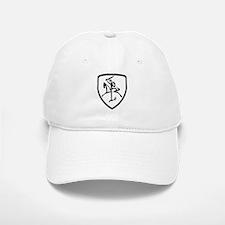 Black and White Vytis Baseball Baseball Cap