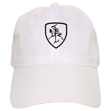 Black and White Vytis Baseball Cap