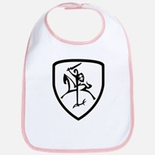 Black and White Vytis Bib