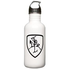Black and White Vytis Water Bottle