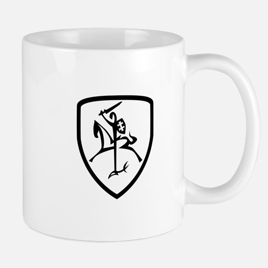 Black and White Vytis Mug