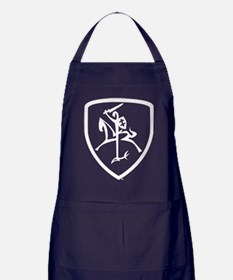 Black and White Vytis Apron (dark)