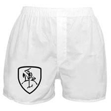 Black and White Vytis Boxer Shorts