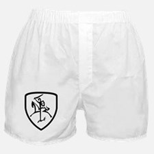 Black and White Vytis Boxer Shorts