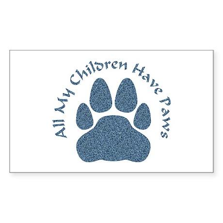 All My Children Have Paws 2 Sticker