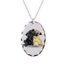Black Fawn Pug Necklace