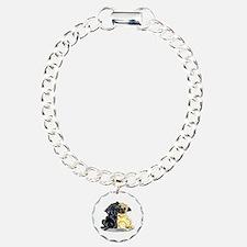 Black Fawn Pug Bracelet