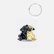 Black Fawn Pug Keychains