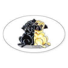 Black Fawn Pug Decal
