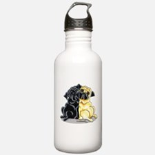 Black Fawn Pug Water Bottle
