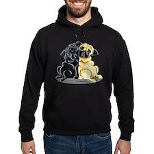 Black Fawn Pug Hoodie
