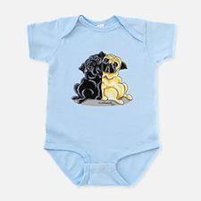 Black Fawn Pug Infant Bodysuit