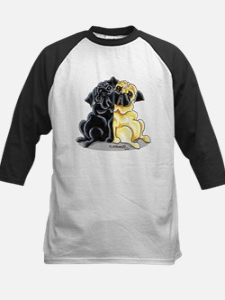 Black Fawn Pug Kids Baseball Jersey