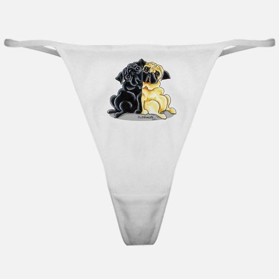 Black Fawn Pug Classic Thong