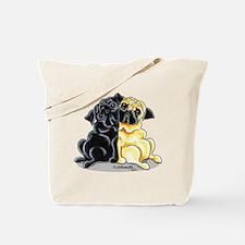 Black Fawn Pug Tote Bag