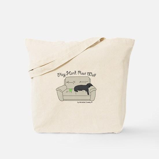 Black Lab - Play Hard Tote Bag